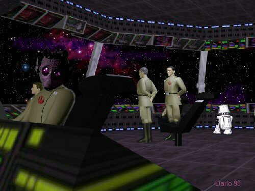 Trailblazer's bridge, with Admiral garil, Captain Collins and Lieutenant Deeggo.
